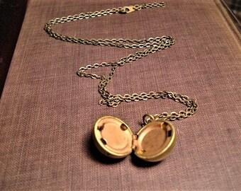 Brass Ball Locket Vintage Locket Round Ball Locket Gifts Under 25 Jewelry My Little Round Brass Ball Locket Jewelry