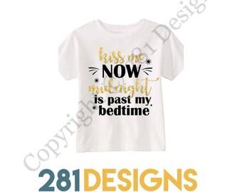 Toddler New Years Shirt, Kids Holiday Tee, Kiss Me Now T Shirt, New Years Shirt, New Years Tee, Kids Graphic Tee, Toddler Graphic Tee