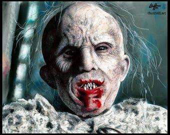 "Print 8x10"" - Infantata - Thaddeus Montgomery American Horror Story Murder House Benjamin Woolf Hotel Cortez Lady Gaga Dark Art Horror Pop"