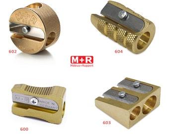 Mobius + sacapuntas de cobre amarillo de Ruppert (M + R) - elegir 4 formas!  Hecho en Alemania - mejores del mundo!