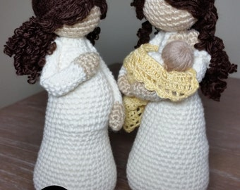 Crochet Pattern Package, Mother-to-be EVE and Nursing Mother EVE and JAMIE