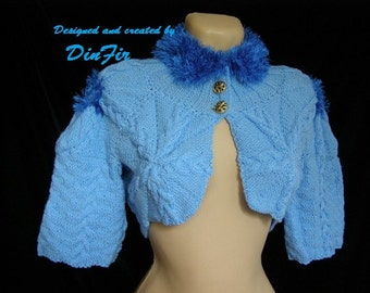 LIQUIDATION Stock SALE 30% OFF Women Bolero Shrug Wedding Accessories Jacket Cardigan Romantic Hand Knitted Elegant Crochet Capelet Feminine