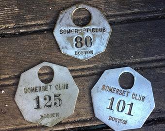 Key Fob Vintage Somerset Club Boston MA Numbers