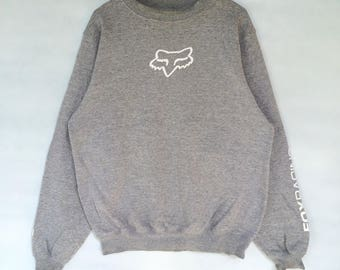 vintage fox racing inc big logo spellout sweatshirt