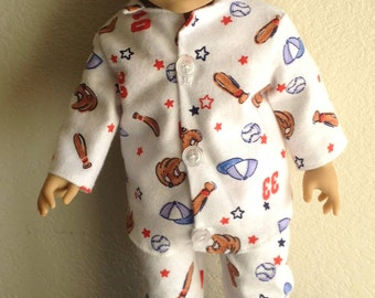 Winter Pajamas made to fit Dolls such as Logan American Girl