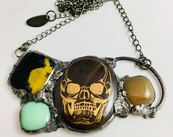 Urban Artifact | Gold Skull | Statement Necklace | Chain | Eclectic