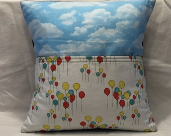 Ballons in the Clouds Pocket Pillow