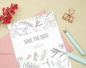 10x Save The Date Cards   Wedding stationery   Custom Save The Dates   Save the dates   Floral Wedding   Green Wedding   Ecofriendly Wedding