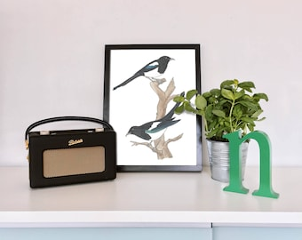 Two For Joy Magpies digital print