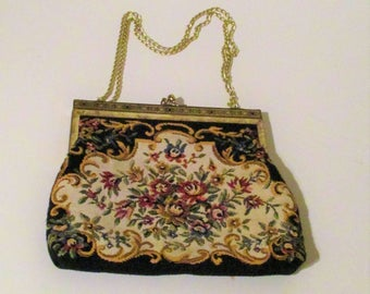 Vintage Tapestry Small Purse