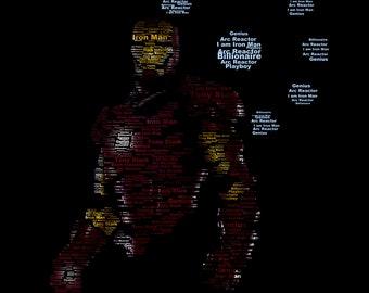 Iron Man Typography Print