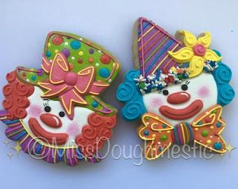 Miss Doughmestic Clown #1 Cookie Cutter and Fondant Cutter and Clay Cutter