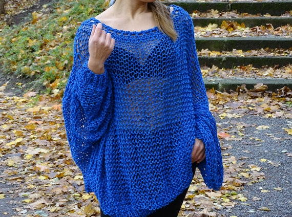 sleeves knit oversized sweater sweater tunic sweater pullover size womens knit made knit long loose to plus slouchy sweater order 74xP7