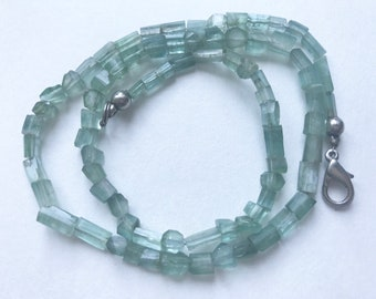150ct  Rare indicolite blue Afghan Tourmaline beads Necklace