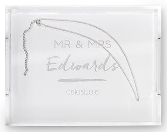 Personalized Wedding Gift - Bride and Groom - Personalized Tray - Wedding Gift - Personalized Organizer - Wedding Present - Bridal Gift