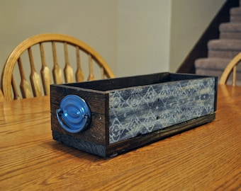Reclaimed Wood Box, Rustic Wood Box, Farmhouse Centerpiece, Rustic Centerpiece, Reclaimed Wood Decor, Wedding Decor
