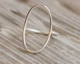Sterling Silver Open Oval Ring