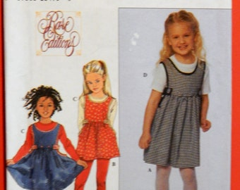 Rare Editions girls jumper pattern Simplicity 8815 Girls' jumper or tunic, knit top and leggings pattern Uncut Sizes 3, 4, 5, 6, 7 and 8