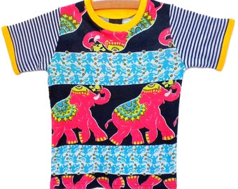 Elephant T-Shirt / Handmade / Shirt / Top / Tee / Bodysuit /  - Dancing Elephant size 2T