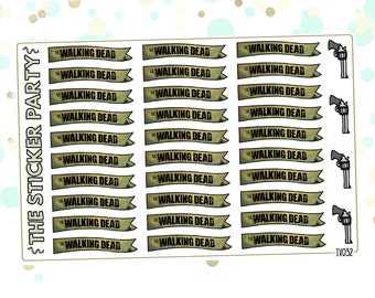 The Walking Dead TV Show Planner Stickers TWD Planner Stickers
