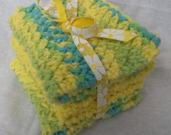 Washcloths Hand Knit for Bath Kitchen