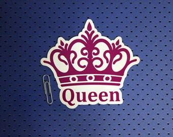 Queen Crown Bumper Sticker
