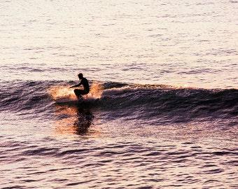 Surf Photography, Ocean Waves, Wave Print, Surfer, Surfing Wall Art, Sunset, Surfboard, Cool Beach Decor, San Diego Surf Art