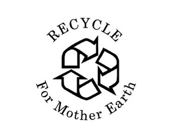 Recycle custom rubber stamp