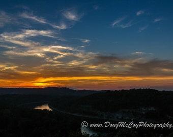 Sunset over Lake Cumberland #9790