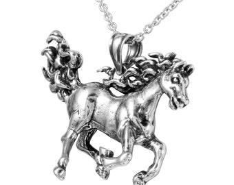 Arabian Horse Necklace in 925 Sterling Silver, Horse Jewelry, Equestrian Jewelry.