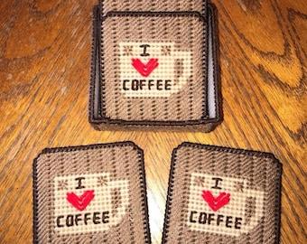I <3 Coffee Coaster Set