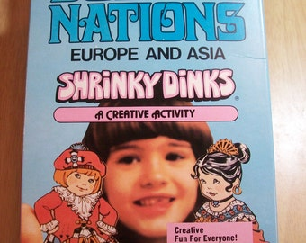 Fantastic Vintage Dolls Of All Nations - Europe & Asia Shrinky Dinks by Colorforms 1979