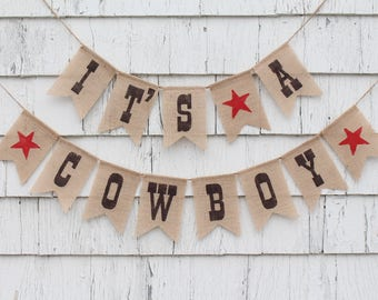 Cowboy Baby Shower Decorations, Cowboy Banner, Its A Cowboy, Rodeo Baby  Shower,