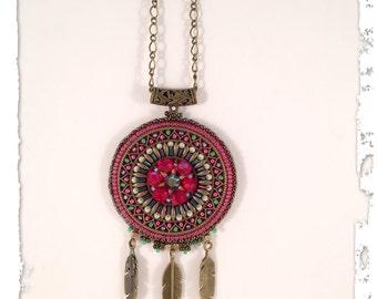 Mandala Dreamcatcher pendant