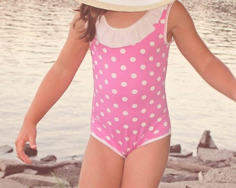 Swimsuit Leotard Ellie Inspired PDF Girl Pattern Size 1 - Size 16 with matching doll pattern