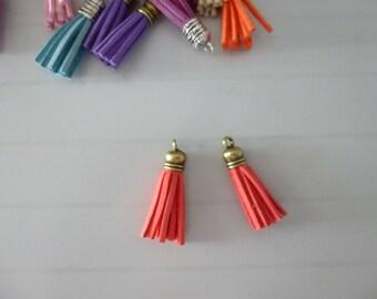 Set of 2 tassels made of suede tassel bag of 3.5 cm