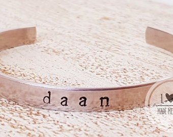 Name or Quote bracelet with front text