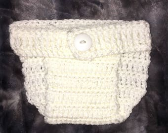 Crochet Adjustable Diaper Cover