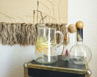Vintage Libbey Glass Pitcher with Wheat Design