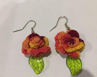 ROSE crochet earrings