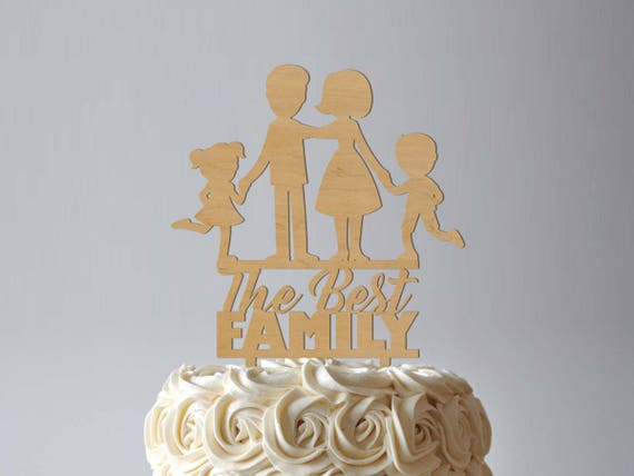 Best Family Cake Topper Rustic Wedding Cake Topper Silhouette Family ...