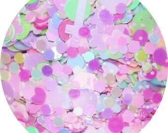 Kawaii Ice Cream Sundae | Face, Hair & Body Glitter | Festival Glitter Mix | Loose Chunky Festival Glitter | Pink Glitter Mix | Makeup