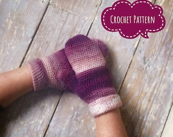 mittens, ladies, crochet gloves, crochet pattern, pdf, digital download