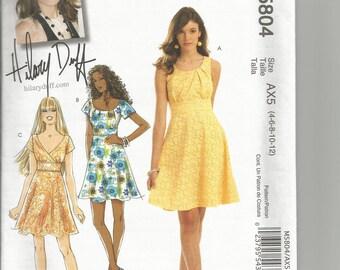 McCalls 5804 uncut Miss 4 - 18 womans  dress
