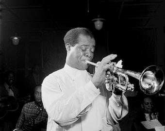 Louis Armstrong - Vintage - Photograph -Jazz - Musician - Singer - Trumpet - Photo - Print - New Orleans - Harlem - NYC