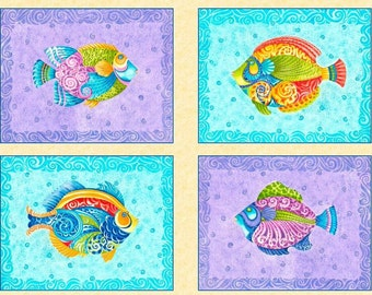 Jewels of the Sea- Panel - Quilting Treasures - Christine Graf