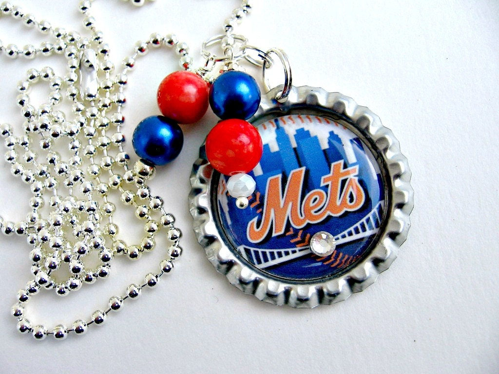 New York Mets Necklace New York Mets Jewelry NY Mets
