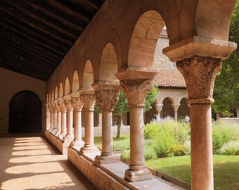 Photo Print - Cloistered Arches   garden arches in a monestary