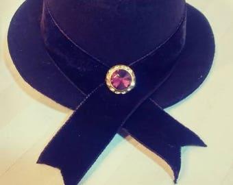 Mini Top Hat With Rhinestone