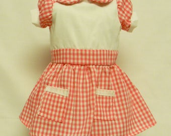 Pink Gingham Dress For 18 Inch Dolls Like The American Girl